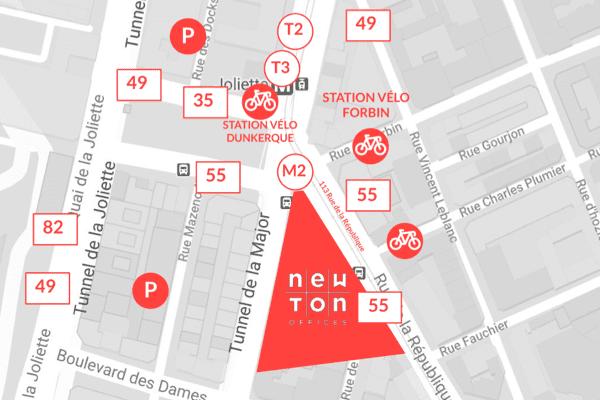 Plan d'accès Newton Joliette